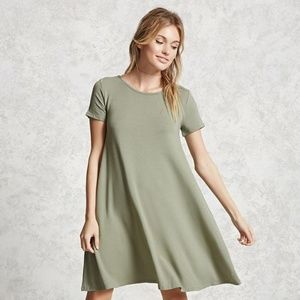 Forever 21 Sage T-shirt Casual Dress